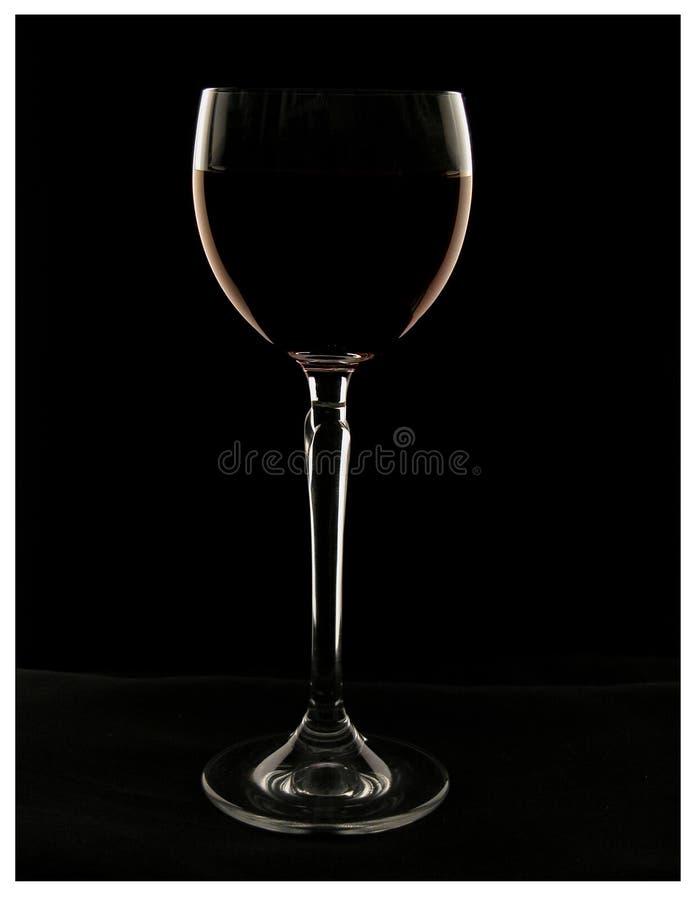 Glace de vin avec du vin photos stock
