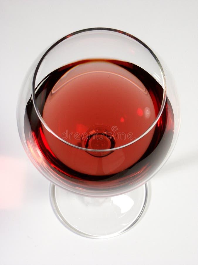Glace de vin avec le vin rouge image libre de droits