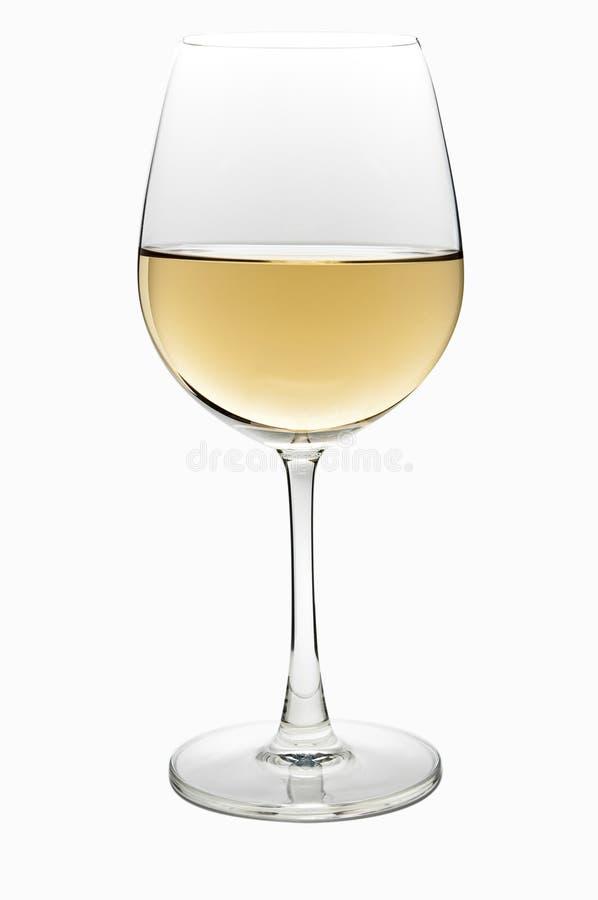 Glace de vin blanc photo libre de droits