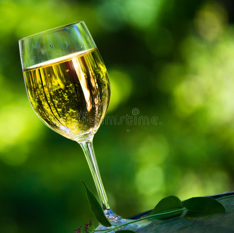 Glace de vin blanc photos stock