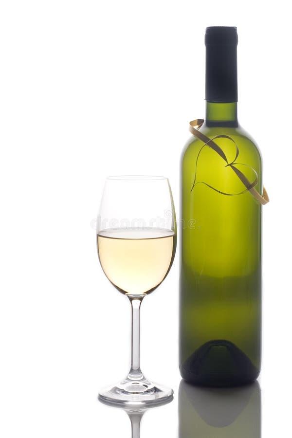 Glace de vin et bouteille de vin photo libre de droits