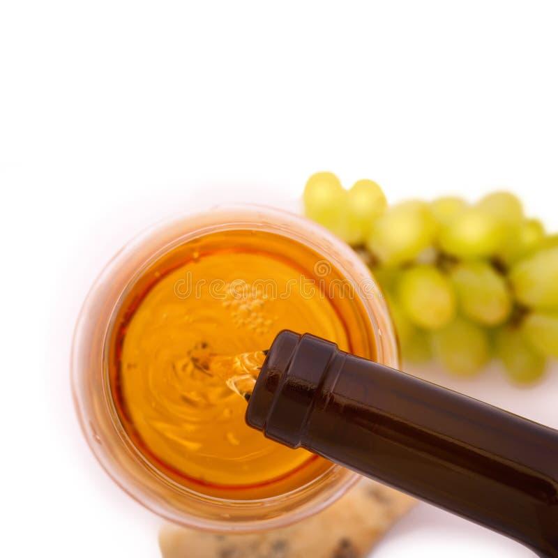 Glace de vin et de bouteille photo libre de droits