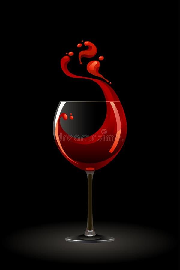 Glace de vin rouge illustration stock