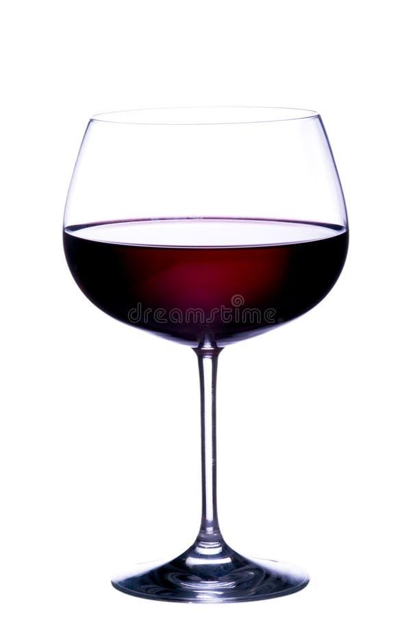Glace de vin rouge photo stock