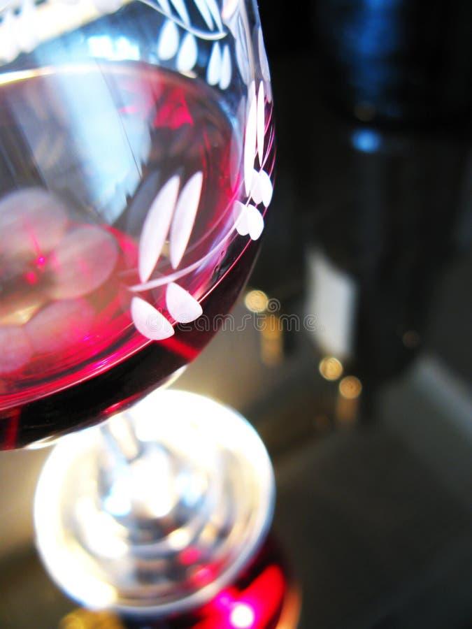 Glace de vin rouge photographie stock libre de droits