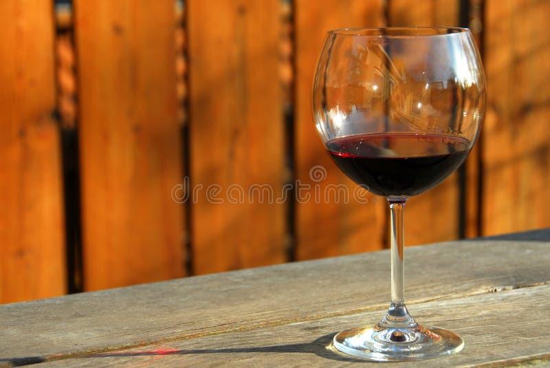 Glace de vin rouge images stock