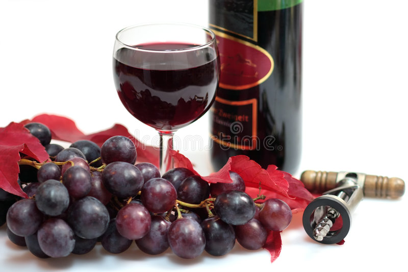 Glace de vin rouge et de raisins photos libres de droits
