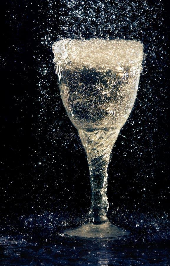Glace de vin sous la pluie photographie stock