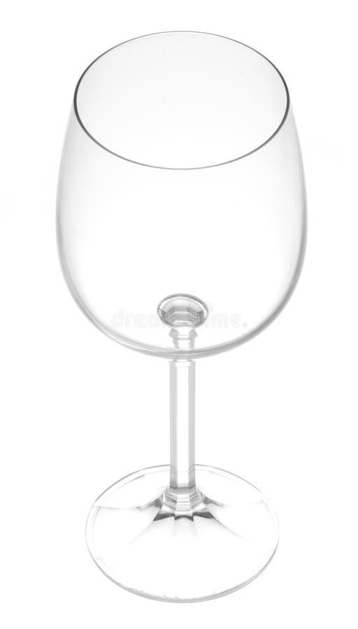Glace de vin sur le blanc images libres de droits