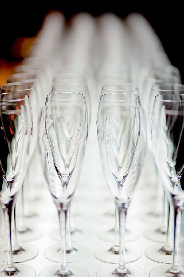 Glace de vin vide images libres de droits