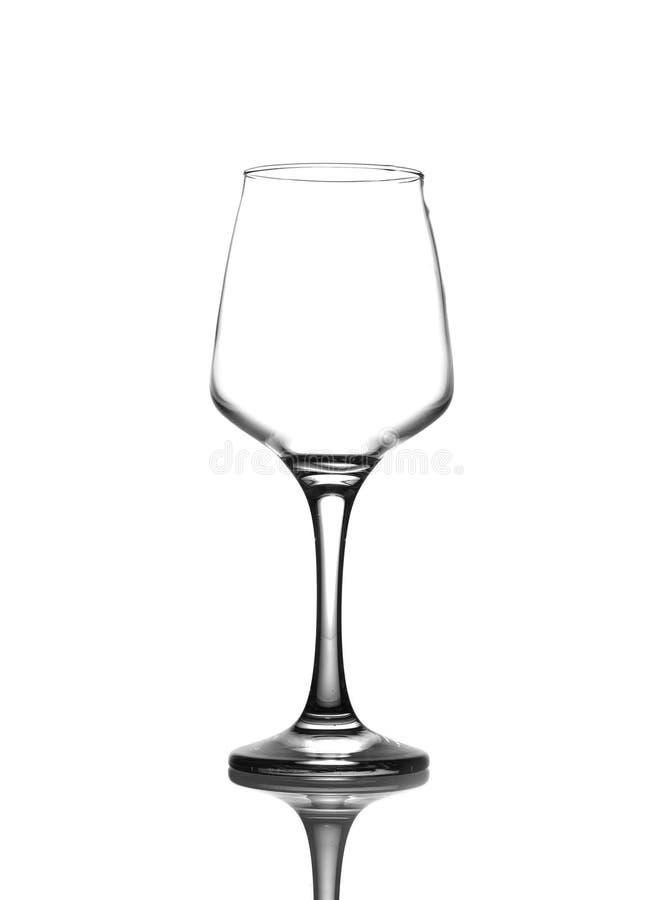 Glace de vin vide sur le fond blanc image libre de droits