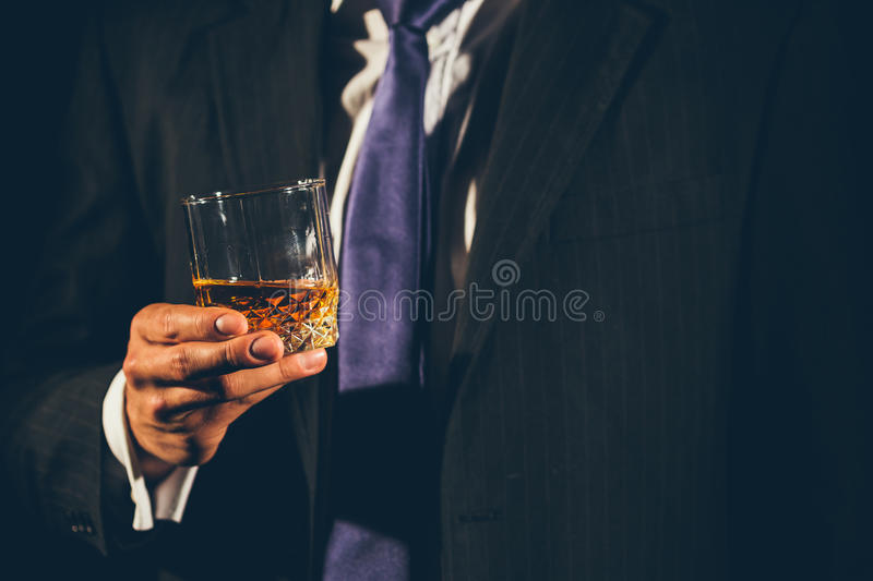 Glace de whiskey photo stock