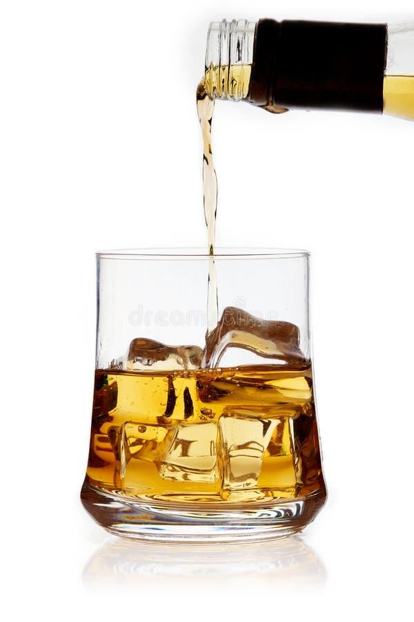Glace de whiskey images libres de droits