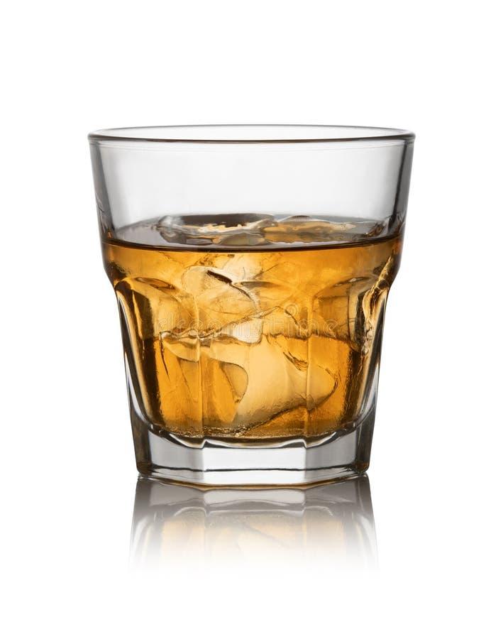 Glace de whisky écossais et de glace photographie stock libre de droits