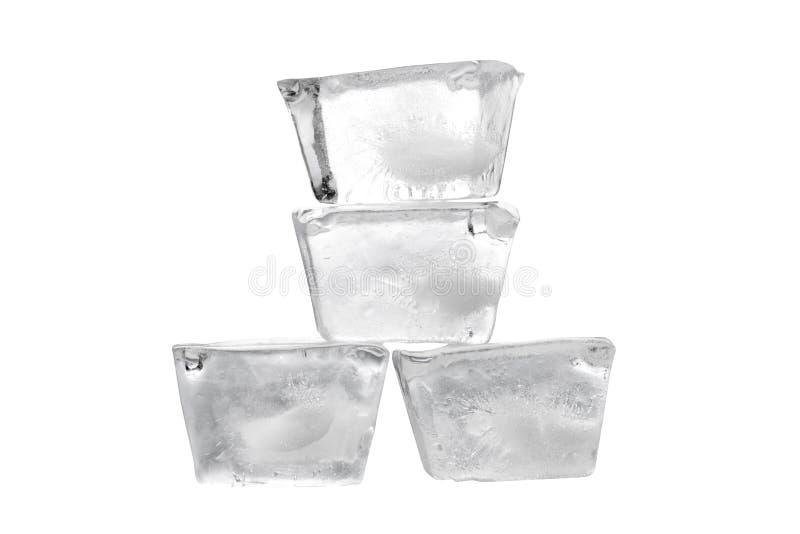 glace des cubes quatre images stock