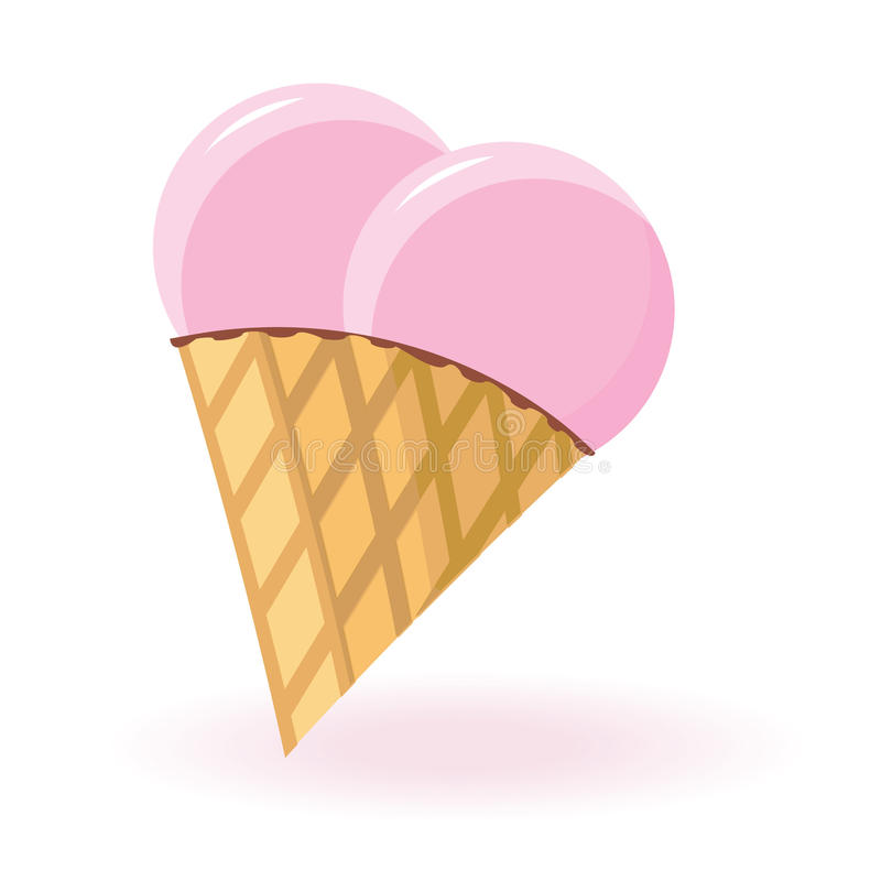 Glace en forme de coeur illustration stock