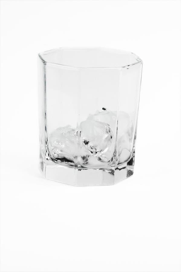 glace en verre d'isolement photographie stock