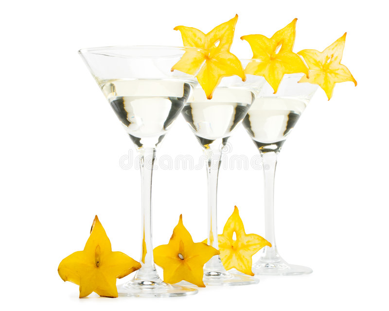 Glace et carambolier de Martini images stock