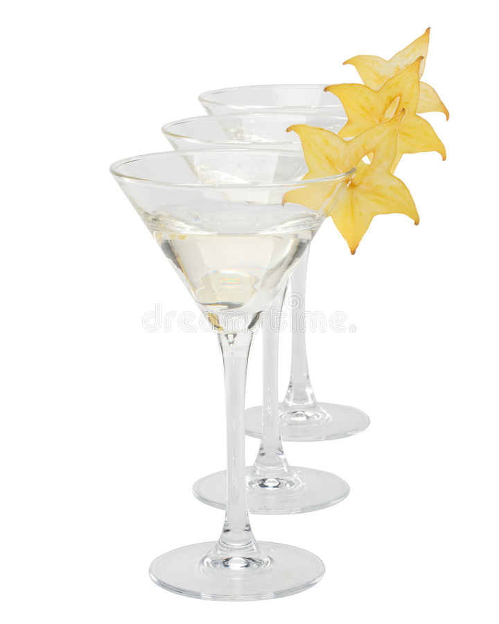 Glace et carambolier de Martini photos libres de droits