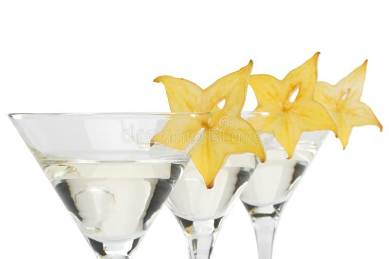 Glace et carambolier de Martini photographie stock libre de droits