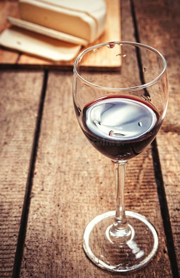 Glace et fromage de vin photos stock