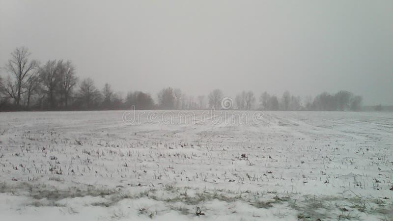 Glace et neige, de Kemp Road à Lima, l'Ohio image stock
