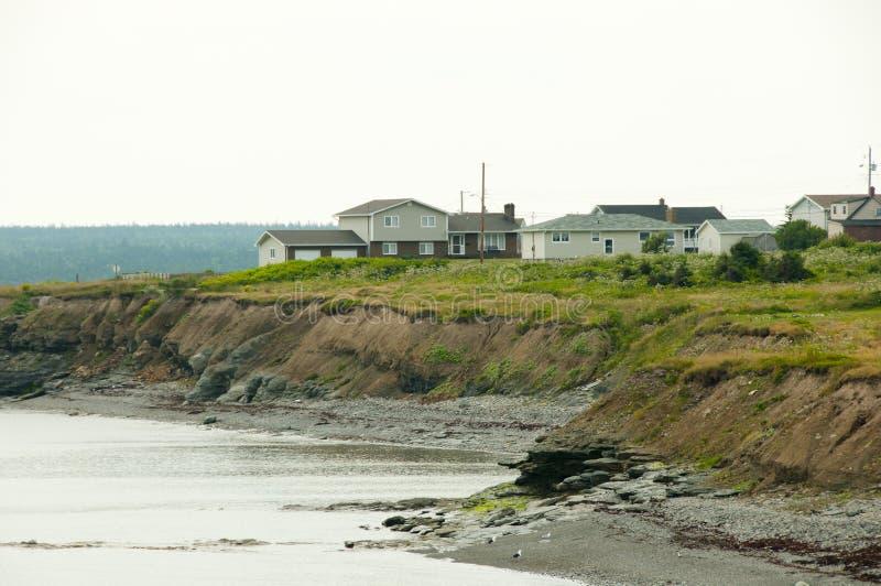 Glace fjärdkust - Nova Scotia - Kanada fotografering för bildbyråer