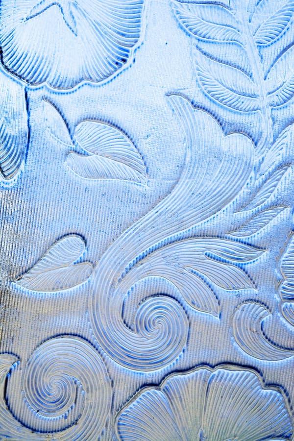 Glace florale bleue image stock