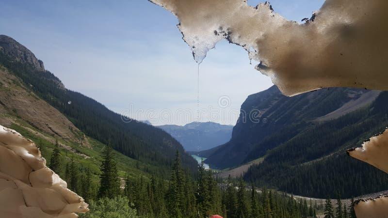 Glace glaciaire de fonte images stock