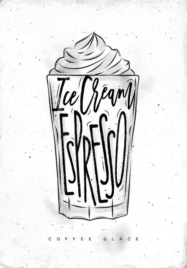 Glace kopp för kaffe royaltyfri illustrationer