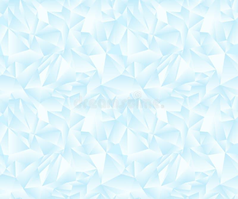 Glace légère molle de modèle polygonal coloré sans couture Bas poly fond Art polygonal Papiers peints des triangles illustration stock