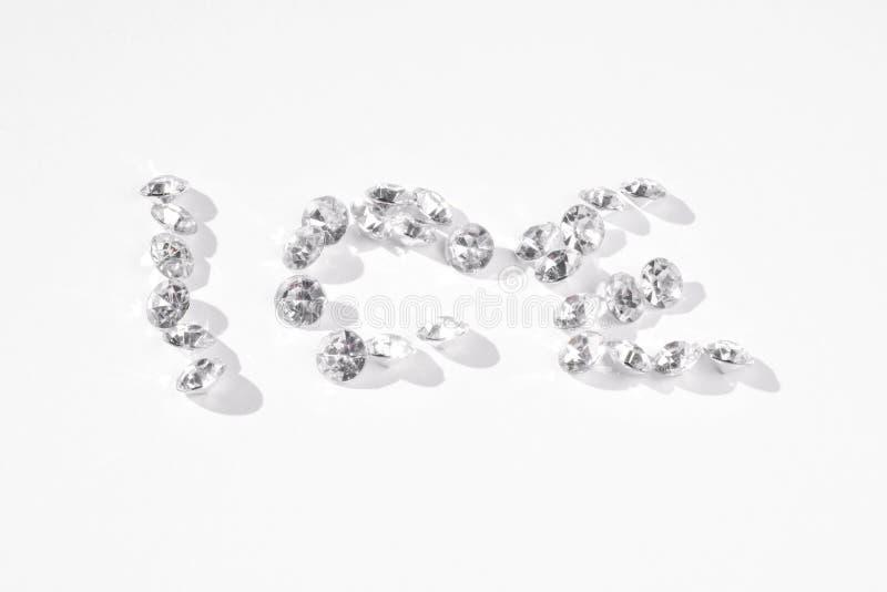 GLACE multiple de charme de diamants de faux photographie stock libre de droits