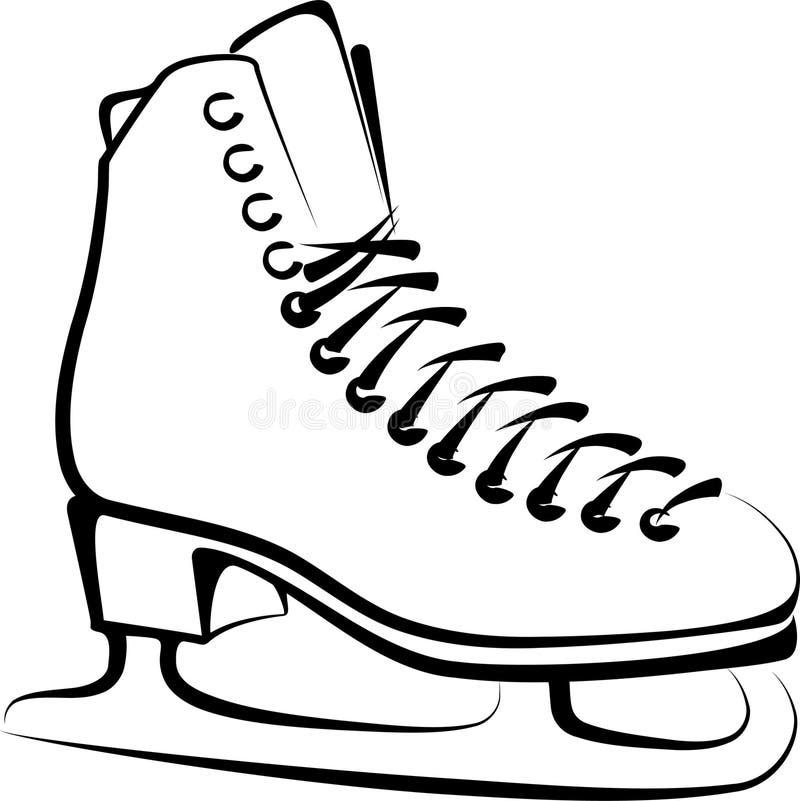 Glace-patin illustration libre de droits
