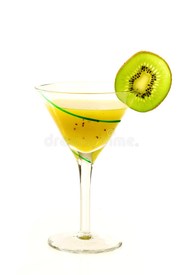 Glace rayée verte de jus frais de kiwi photo libre de droits