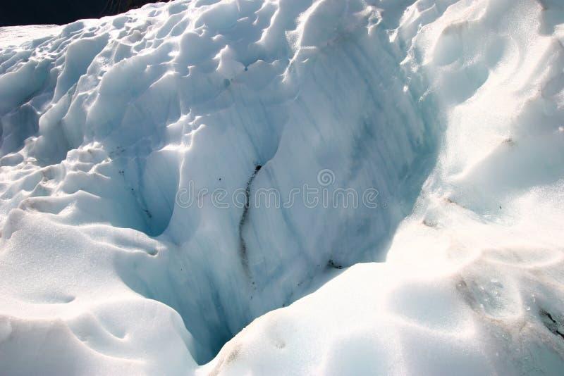 Glace rocailleuse de glacier photographie stock libre de droits