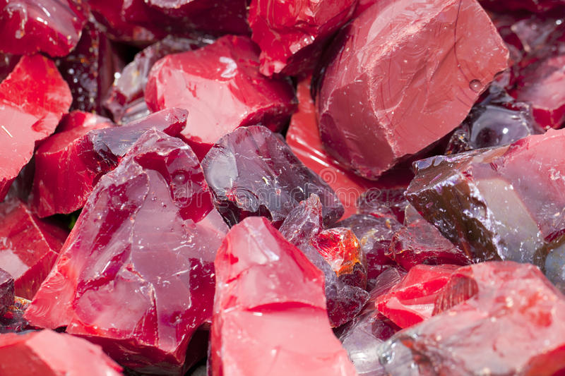 Glace rouge de scories image stock