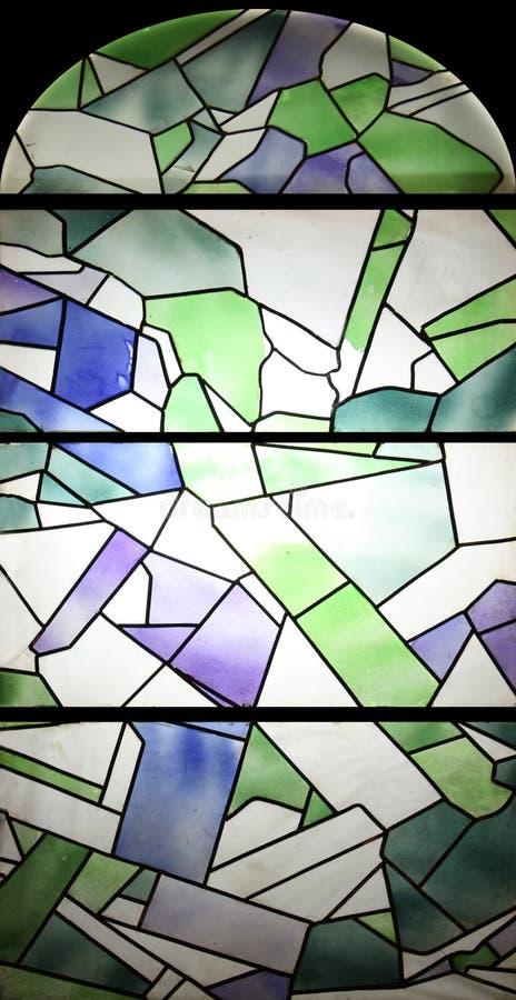 Glace souillée colorée photo stock