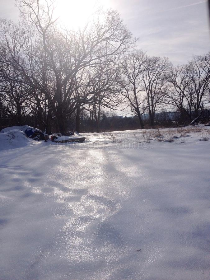 Glace sur la neige photographie stock libre de droits