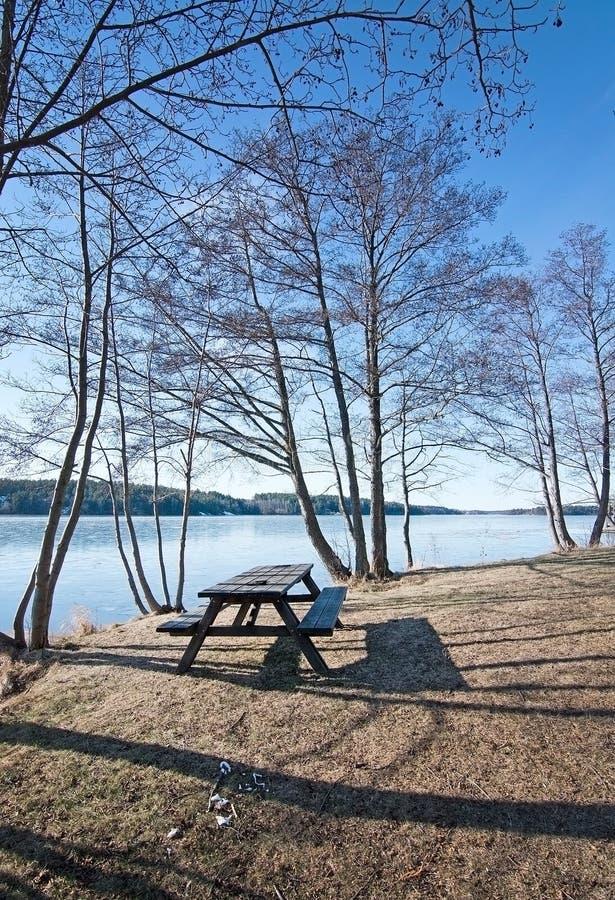 Download Glace sur le lac photo stock. Image du sable, stockholm - 77150878