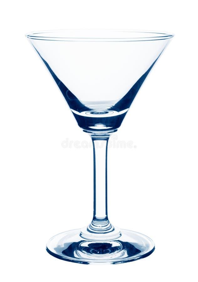 Glace vide de martini images libres de droits