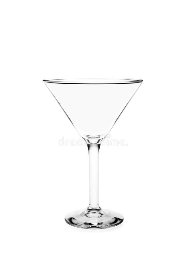 Glace vide de martini photo stock