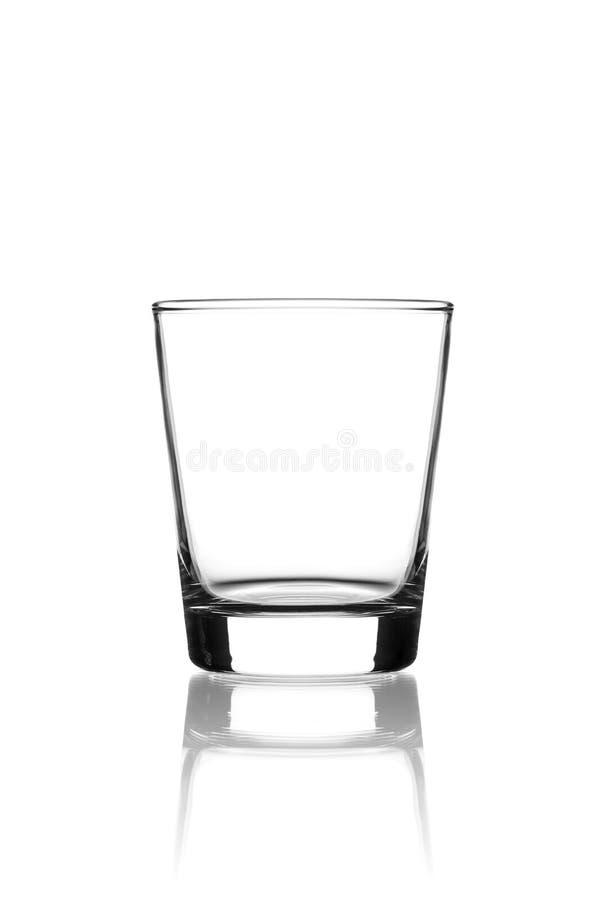 Glace vide sur le blanc photo stock