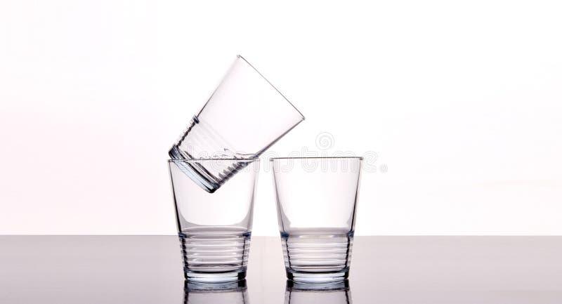 Glaces d'eau vides photo libre de droits