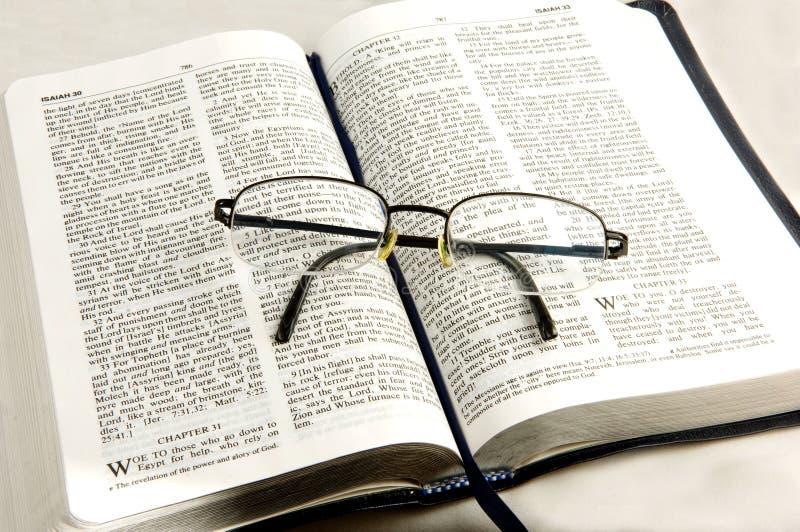 Glaces d'oeil de petit morceau de bible. images libres de droits
