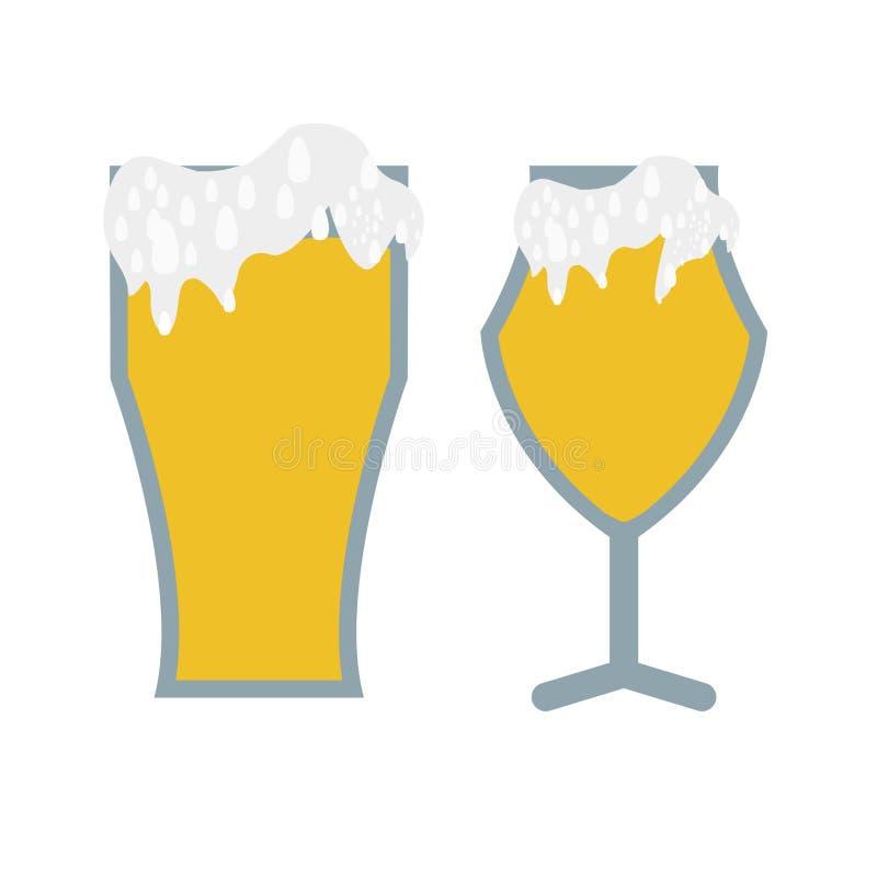 Glaces de bière illustration libre de droits
