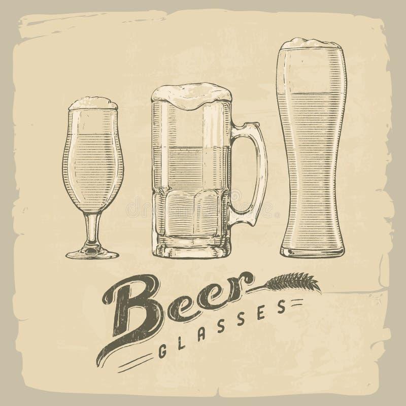 Glaces de bière illustration de vecteur