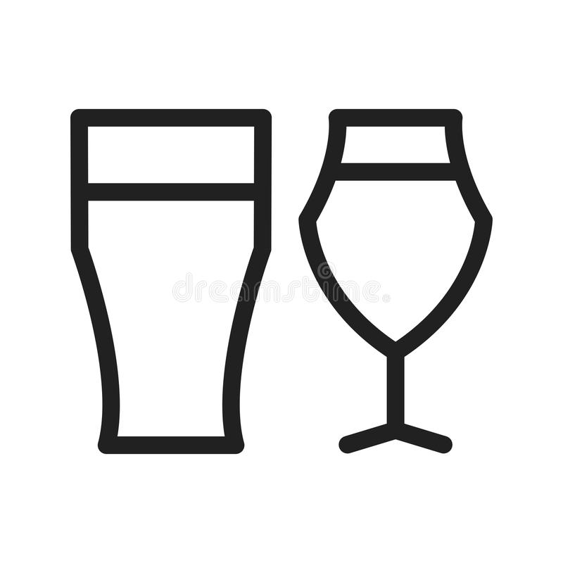Glaces de bière illustration stock