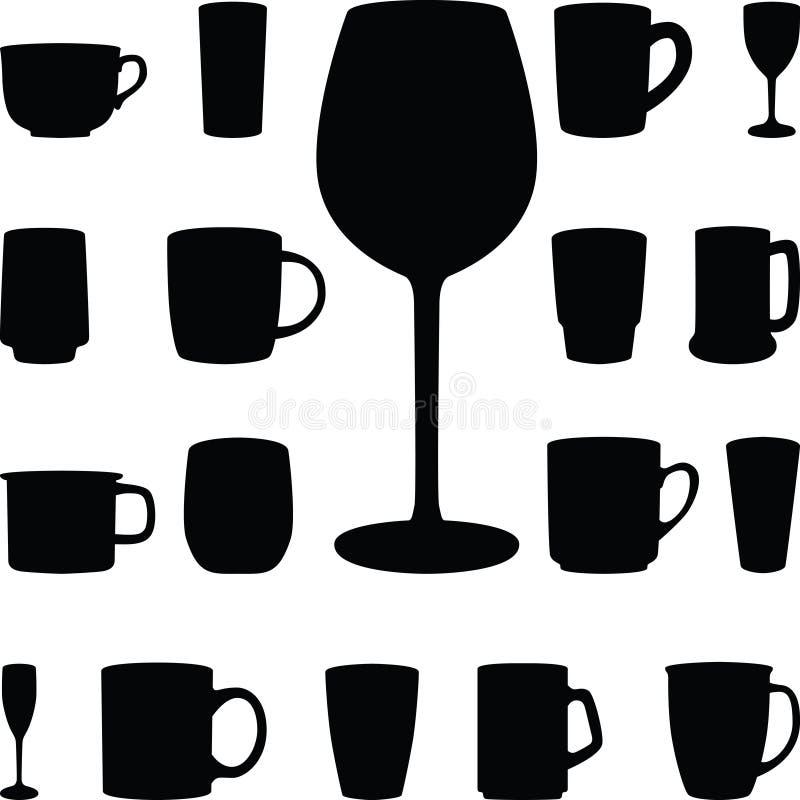 Glaces de boissons illustration stock
