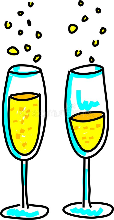 Glaces de Champagne illustration de vecteur