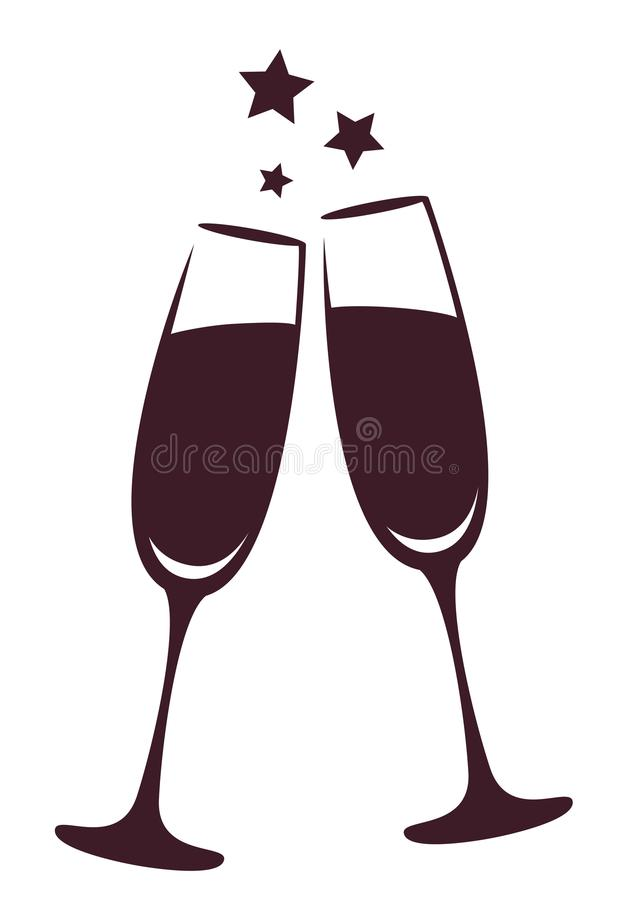 Glaces de Champagne graphisme illustration stock
